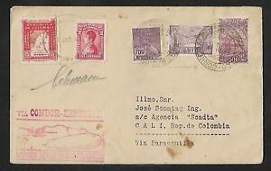 SCADTA  ZEPPELIN BRAZIL TO COLOMBIA AIR MAIL COVER 1932 LEHMANN  SIGN