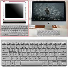 White Wireless Bluetooth QWERTY Keyboard for All Tabs, iPads, Samsung, Kindle