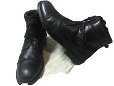 GBX SIDE ZIP 13 M TIES CAP TOE DRESS BOOTS Excellent Leather