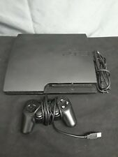 Sony PS3 Slim 160GB Console CECH-3001A w/ Controller NOT WORKING PROPERLY AS IS