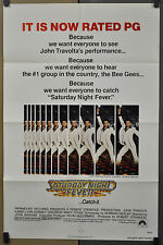 SATURDAY NIGHT FEVER 1977 ORIGINAL 27X41 MOVIE POSTER W/RATING JOHN TRAVOLTA
