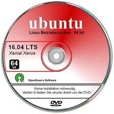 ubuntu Linux Betriebssystem 16.04 LTS - 64 bit DVD deutsch