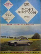 Revue technique PEUGEOT 505 DIESEL GRD SRD + SRD TURBO RTA EXPERT 177 1981
