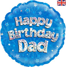 """HAPPY BIRTHDAY DAD 18"""" FOIL """"BALLOON IN A BOX"""" INFLATED"""