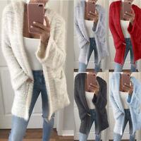 Women's Long Sleeve Knitted Sweater Jumper Cardigan Knitwear Outwear Coat Jacket