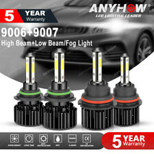 Combo 4side 9007+9006 LED Headlight Fog Bulbs for Dodge Ram 1500 2500 3500 02-15