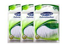 3x Dentek Zahnstocher Interdental Reinigungsbürsten 150 Stück mit Minze