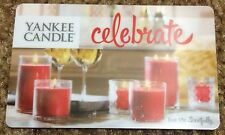 "Yankee Candle Us Gift Card ""Celebrate"" No Value Collectible New 2015"