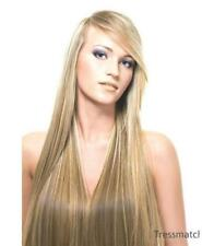"20"" Brown Blonde Highlights Thick Authentic Remy Human Hair Extensions Clip in"