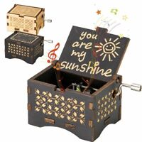 US Wooden Music Box Mom/Dad To Daughter Toy Craft Engraved You Are My Sunshine