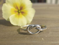Handmade Sterling Silver 1.5mm chunky Knot Ring