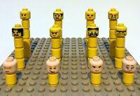 Lego Minifig Köpfe aus allen Themen Minifigur viele Farben große Auswahl 40 D