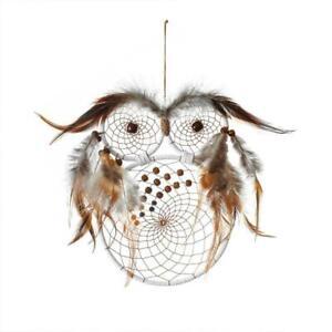 Owl Dream Catcher Pendant Home Wall Decor Feather Dreamcatcher Hanging Ornament