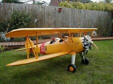 Giant 1/5 Scale STEARMAN N2S scratch build r/c Plane Plans 77 in. wingspan
