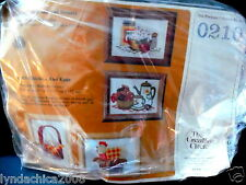 POPCORN & DOUGHNUTS + CHICKEN & EGGS Crewel Embroidery Kit By Creative Circle
