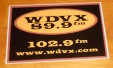 Wdvx 89.9 Fm Radio Sticker Original Promo (rectangle) 6x4