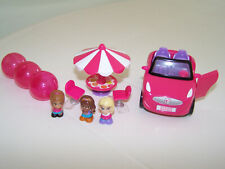 Squinkies  Barbie Dream Car Playset People Table Chairs Complete Set