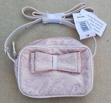 MATALAN Girls Peach Pink Metallic Gold Abstract Print Shoulder Bag 16 cm x 12 cm