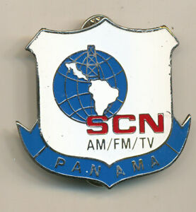 Southern Command Network Panama Armed Forces TV badge pocket old 1990s