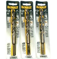 """(3 Pack) DEWALT 1/2"""" DRILL BIT DWA1232 FOR STAINLESS AND HEAVY STEEL"""