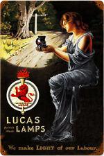 Lucas Lamps Vintage Pin-Up Metal Sign