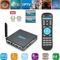 MECOOL BB2 Amlogic S912 64bit Octa core Android 6.0 TV BOX 2G 16G WiFi Media