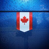 "Flag of Canada sticker - 1 3/8"" x 1 3/4"" - car decal Canadian emblem badge vinyl"