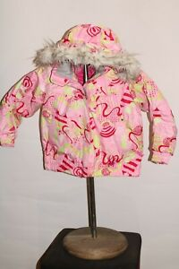 SPYDER Girls sz 4 Faux-Fur hooded Snowboard/snow Jacket