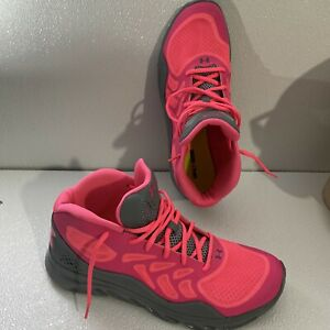 UNDER ARMOUR Spine Shoes Sneakers Mens US 12 Pink Gray Wm Sz14