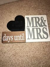 Mr And Mrs Chalkboard Countdown