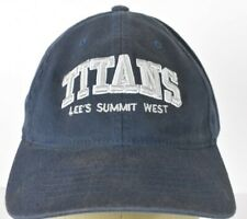 Lee's Summit West Titans Navy Blue Baseball hat cap fitted L/XL
