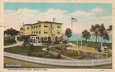 Birchmont Beach Hotel in Bemidji MN Postcard 1938