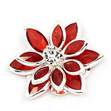 10PCs BD Lotus Embellishment Findings Rhinestone Flatback Red 23mmx24mm