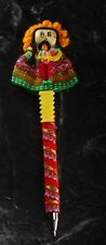 Handmade Peruvian Pen Worry Doll Writing Accessory Comes With Card Red