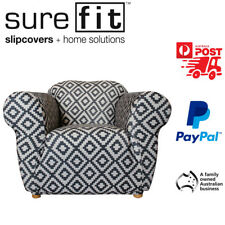 1 Seater Surefit Stretch Couch Lounge Sofa Cover | Slipcover | Tribal Print