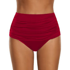 Womens Ladies High Waisted Bikini/Tankini Bottoms Swim Briefs Swimsuit Plus Size