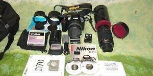 Nikon D70 DSLR 6.1MP Camera Black Kit Plus Zoom Lens Complete  W/Manuals CHEAP