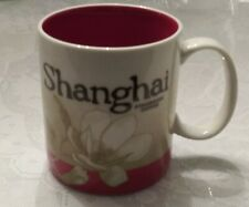 New Starbucks Mug Global Icon Series Shanghai Ivory & Red Collector Series 16 oz