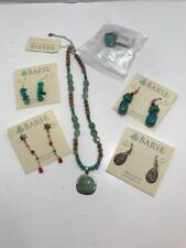 NWT Barse Sterling Silver Turquoise Jewelry Lot Necklace Earrings & Ring Nice!!