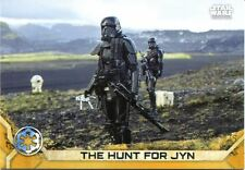 Star Wars Rogue One Series 2 Gold Base Card #5 The Hunt for Jyn