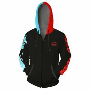 My Hero Academia Todoroki Shoto Cosplay Zip Hoodie Sweatshirt Coat Jacket