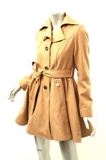 INC INTERNATIONAL CONCEPTS Camel Wool-Blend Belted Peacoat S $275