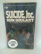 Suicide, Inc. by Ron Goulart-Paperback Signed 1st1985