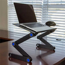 Folding Laptop Desk Table Bed Adjustable Portable Computer Stand Tray Furniture