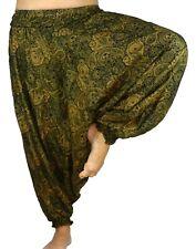 Sarouel Femme Pantalon Ethnique Aladin Harem Pant Aladdin yoga vert kaki