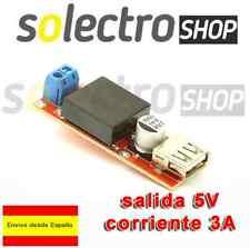 Convertidor DC de 7v-24v a 5v 3A USB STEP Down Reductor Arduino LM2596 A0016