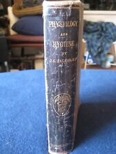 Antique Book ~A Treatise On Physiology And Hygiene By J.C. Dalton Md Harper & Br