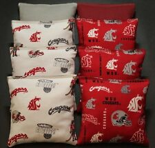 8 Cornhole Beanbags made w Washington State Cougars Camo Fabric Aca Reg Bags