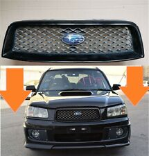 For Subaru Forester Front Grill Cross Sports STI JDM 2002-2005MY Black