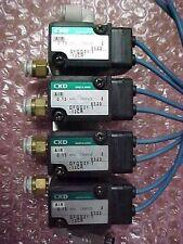 CKD Solonied VALVE GFGG21-1-12CR, Lot of 4 and Manifold, 100 V 50/60 HZ